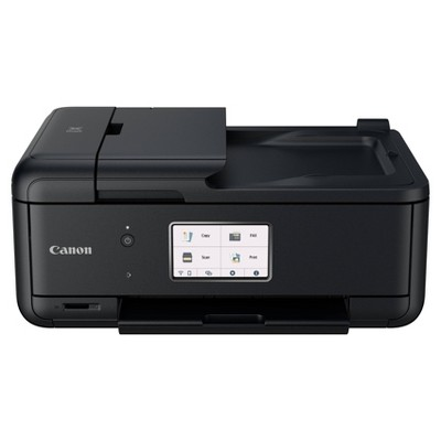 Canon PIXMA TR8620 All-In-One Printer For Home Office with Copier, Scanner, Fax, Photo and Document Printing and Mobile Printing - Black
