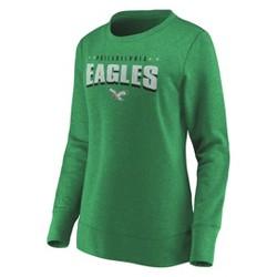 NFL Philadelphia Eagles Women's Distressed Throwback Fleece T-Shirt
