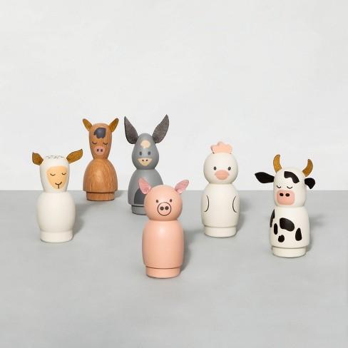 Wooden Toy Farm Animal Set Hearth, Farm Animal Figurines