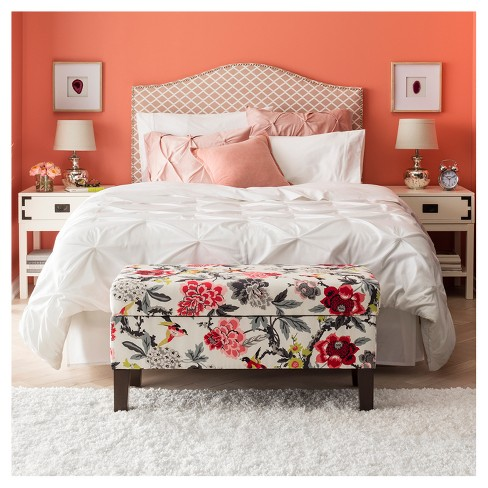 Bedroom Patterned Storage Bench Skyline Furniture