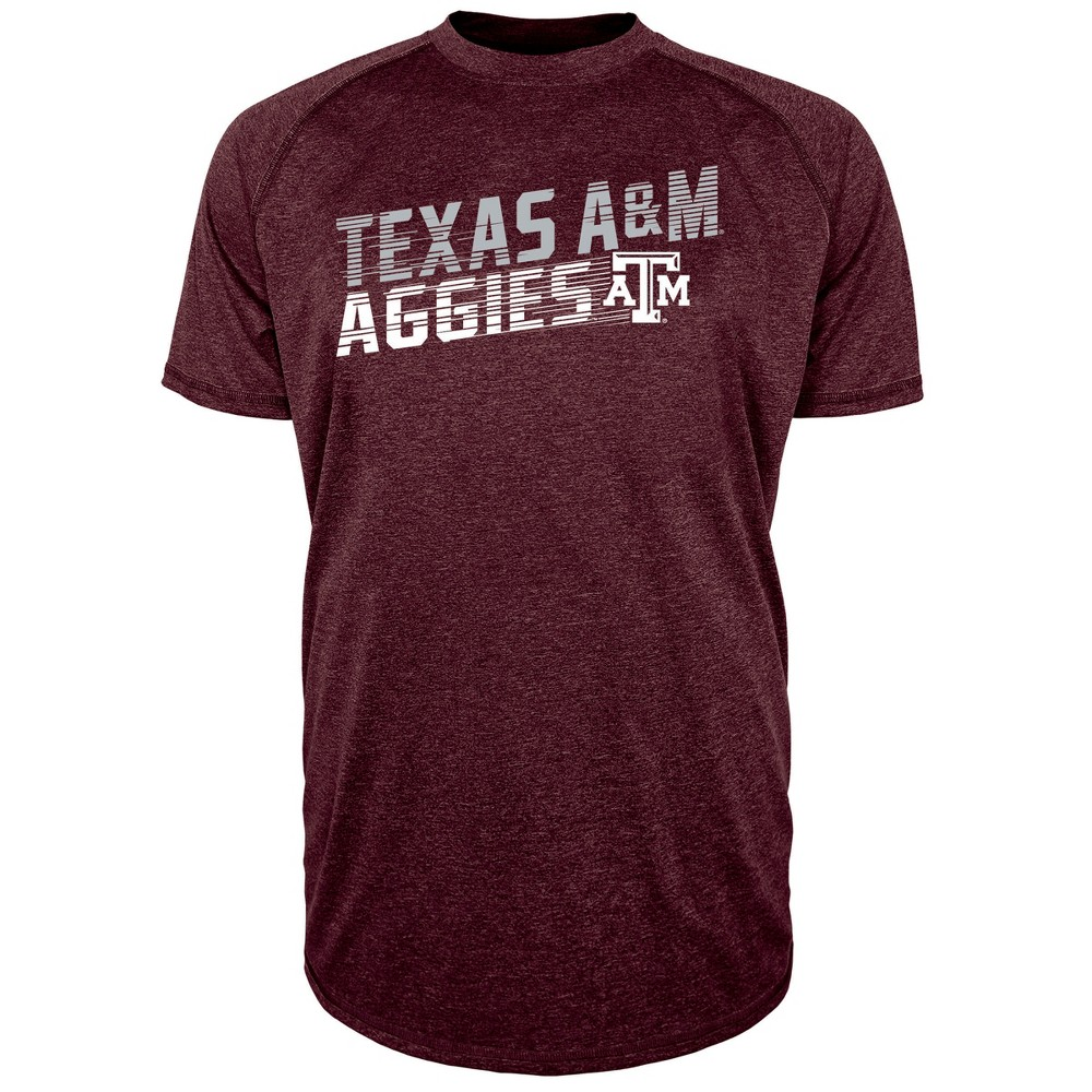 Texas A&m Aggies Men's Short Sleeve Raglan Performance T-Shirt - Xxl, Multicolored