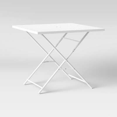 "32"" Metal Punched Square Patio Folding Table - Room Essentials™"