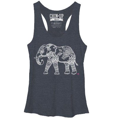 Women's CHIN UP Zen Elephant Racerback Tank Top