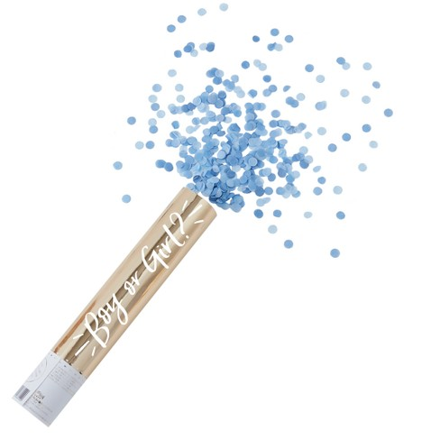 Ginger Ray Large Gold Foiled Blue Gender Reveal Compressed Air Cannon Shooter Oh Baby! - image 1 of 2