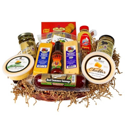 Northlight 13pc Hot Spicy Wisconsin Sausage and Cheese Gift Pack
