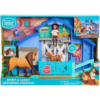 DreamWorks Spirit Riding Free Spirit & Lucky Grooming Paddock