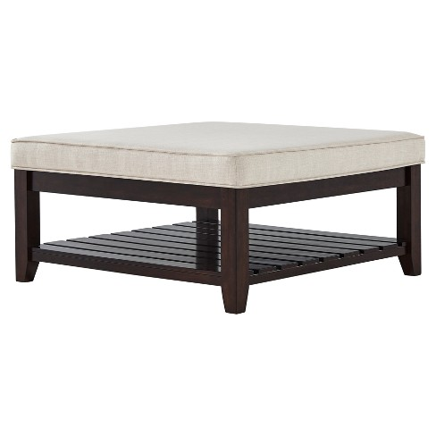 Southgate Espresso Tapered Cocktail Ottoman - Inspire Q - image 1 of 4