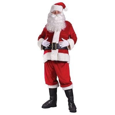 Adult Santa Suit Rich Velvet Halloween Costume XL