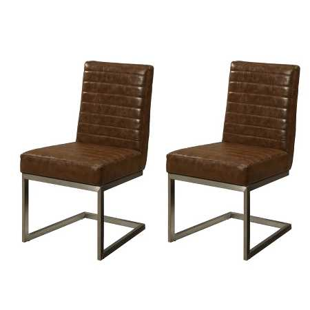 Uptown Contemporary Dining Chairs Set Of 2 Lenox Brown Treasure Trove