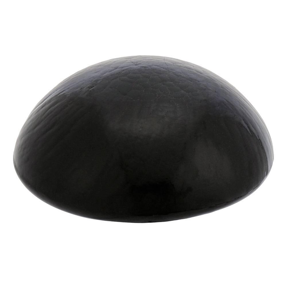5 5 34 Glass Toadstool Gazing Globe Ball Black Smoke Achla Designs