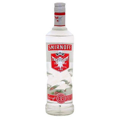 Smirnoff Strawberry Flavored Vodka - 750ml Bottle