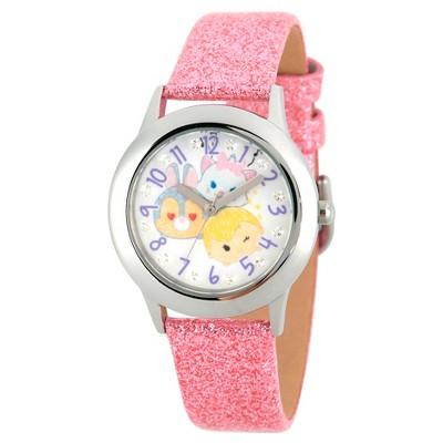 Girls' Disney Tsum Tsum Watch- Pink Glitter