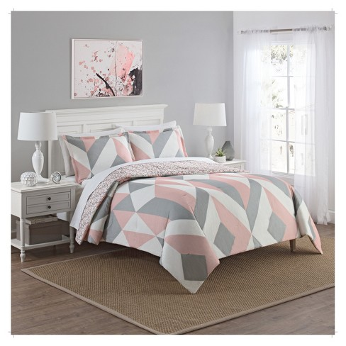 Colorblock Lena Reversible Comforter Set 3pc - Marble Hill® - image 1 of 2