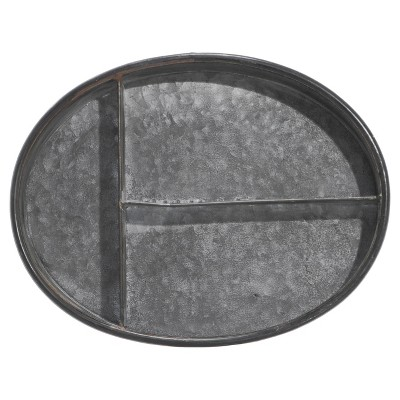 Metal Tray With Dividers   VIP Home U0026 Garden