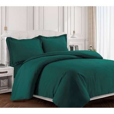 2pc Twin Valencia Microfiber Oversized Duvet Cover Set Teal - Tribeca Living