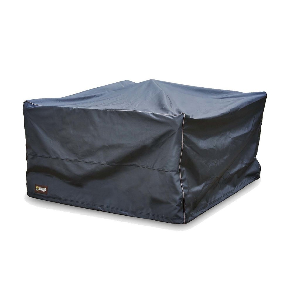 Image of Seasons Sentry Square Fire Pit Cover, Black