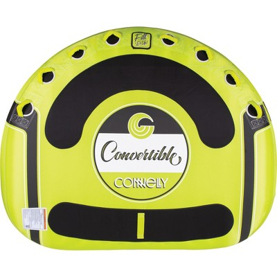CWB Connelly Convertible 4 Person Large 70x80 Inch Inflatable Pull Behind Boat Towable Water Inner Tubing Tube, Green