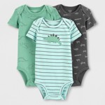 1fac9911222ff Baby Boys  3pk Bodysuits - Just One You® made by carter s Green Gray