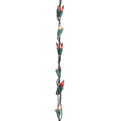 Northlight 100ct Shimmering Christmas Garland Mini Lights Clear/Green - 9' Green Wire