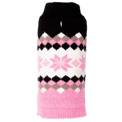 The Worthy Dog Colorblock Snowflake Pullover Sweater