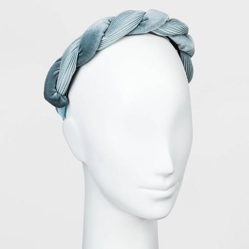 Satin and Velvet Pleated Twist Braid Plastic Headband - A New Day™ - image 1 of 1