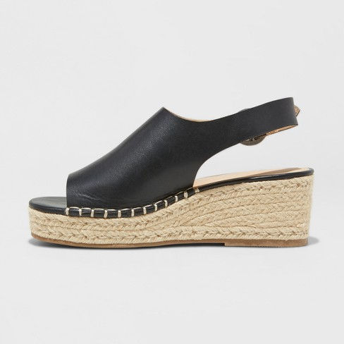 a5c5c7ebfb90 Women s Ava Shield Espadrille Flatform Sandals - Universal Thread™ Black 6    Target