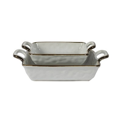 2pc Stoneware Geneva Nesting Baking Dish Set - Tabletops Gallery
