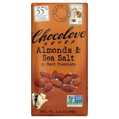 Chocolove Almonds & Sea Salt in Dark Chocolate - 3.2oz