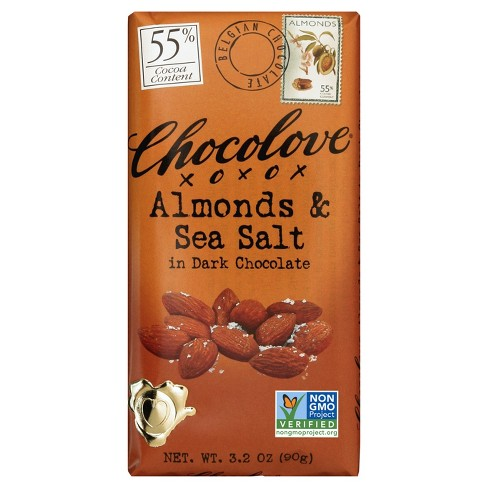Chocolove Almonds & Sea Salt in Dark Chocolate - 3.2oz - image 1 of 4