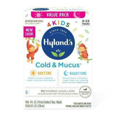 Hyland's 4 Kids Day & Night Cold 'n Mucus Relief Liquid - 8 fl oz
