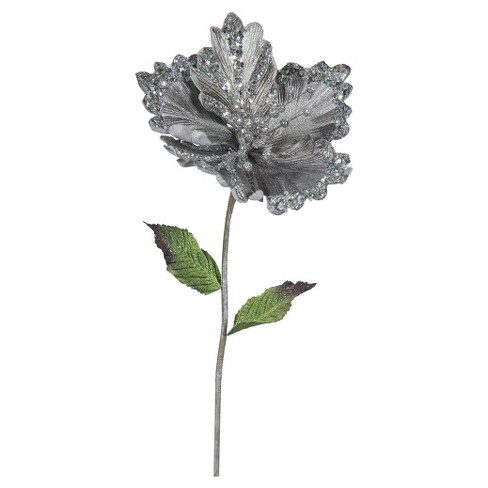 "23"" Christmas Hibiscus Pewter 3 ct - image 1 of 1"