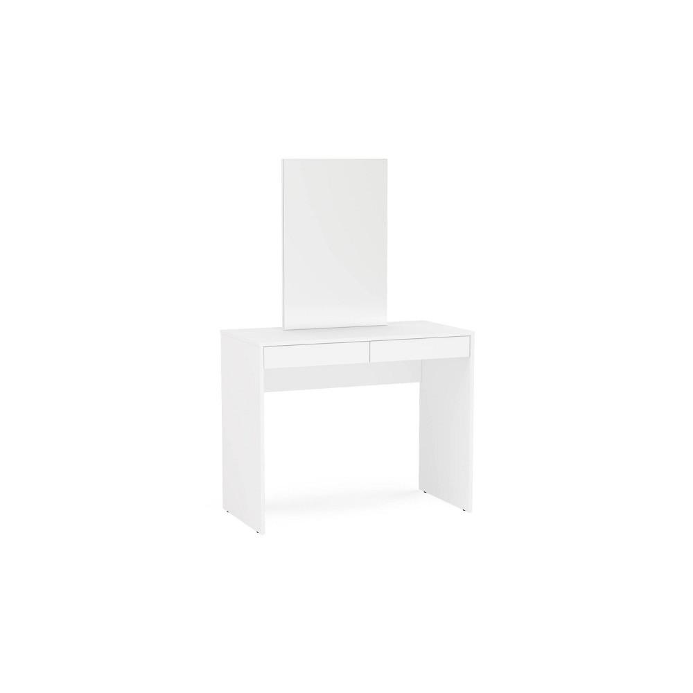 Image of Salisbury Vanity w/Mirror White - Chique