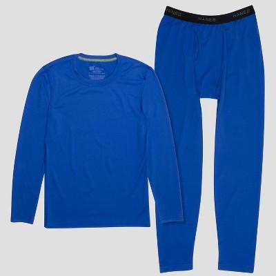 Hanes Premium Boys' 2pc Thermal Underwear Set - Blue