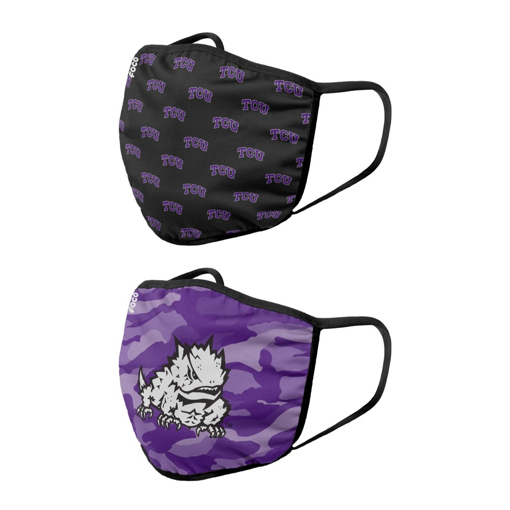 Ncaa Tcu Horned Frogs Youth Clutch Printed Face Covering 2pk