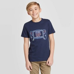 Boys' Short Sleeve Gaming Graphic T-Shirt - Cat & Jack™ Navy