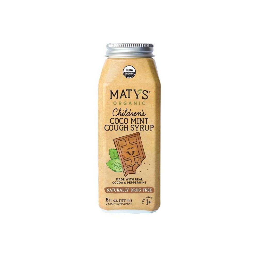 Maty 39 S Organic Children 39 S Coco Mint Cough Syrup 6 Fl Oz