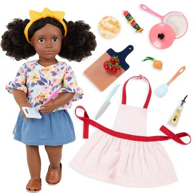 """Our Generation Macy with Play Food Accessories 18"""" Posable Doll"""