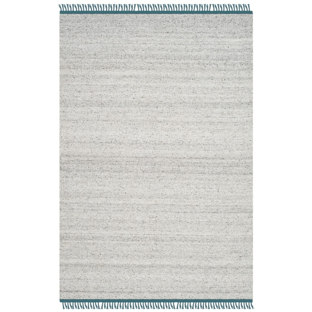 4'X6' Solid Woven Area Rug Gray/Ivory - Safavieh