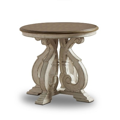 Myrtle Solid Wood End Table Dark Oak - HOMES: Inside + Out