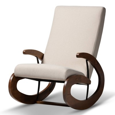 Kaira Rocking Chair Beige - Baxton Studio