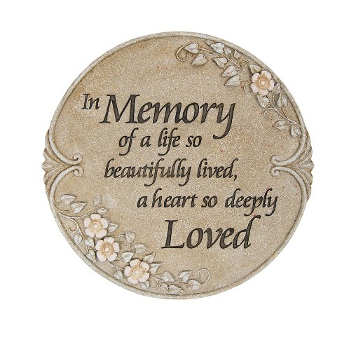 Carson Home Accents Decorative Luminous Garden Memory Stepping Stone/Plaque - image 1 of 1
