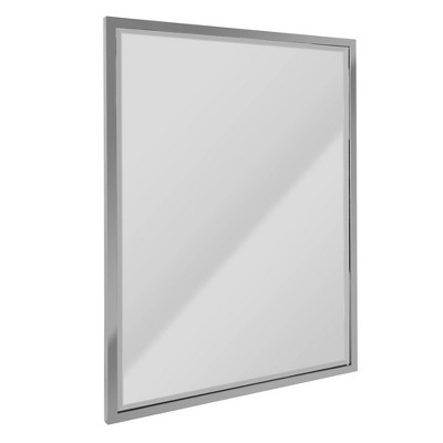 "30"" x 40"" Classic Metal Frame Wall Mirror Chrome - Head West"
