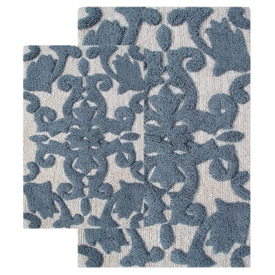 Iron Gate 2 - Pc. Bath Rug Set Iron Gray - Chesapeake Merch Inc.®