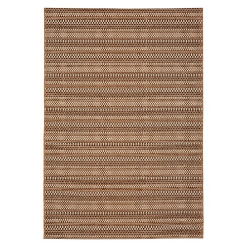 Edgeman Rectangle Patio Rug - Black / Natural - Balta Rugs - image 1 of 3