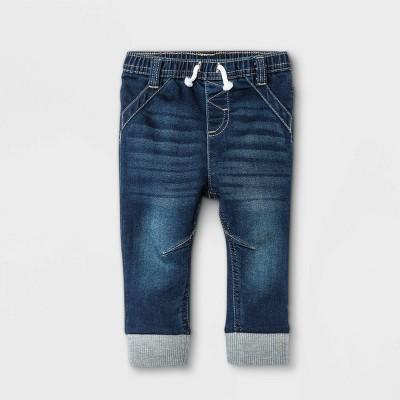 Baby Boys' Jogger Jeans - Cat & Jack™ Dark Wash 3-6M