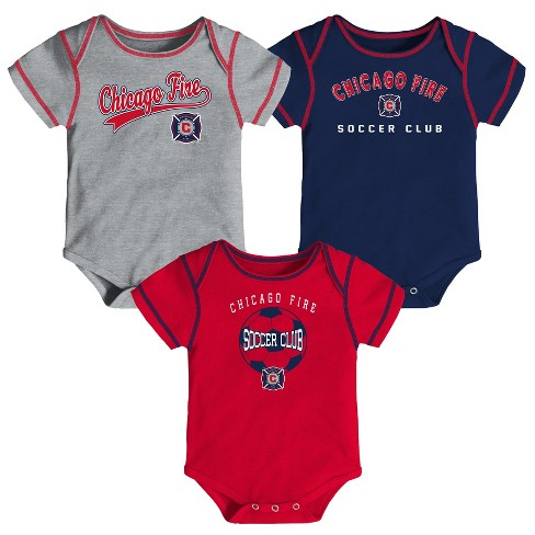 MLS Baby 3pk Onesies Chicago Fire - image 1 of 4