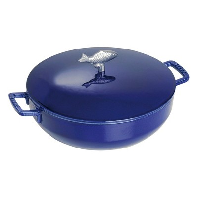 Staub Cast Iron 5-qt Bouillabaisse Pot - Dark Blue