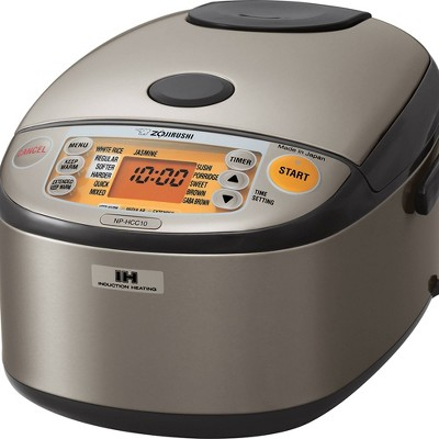 Zojirushi Induction Heating Rice Cooker & Warmer, 5.5 cups (uncooked), Stainless Dark Gray, Made in Japan