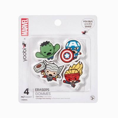4pk Erasers Avengers - Yoobi™