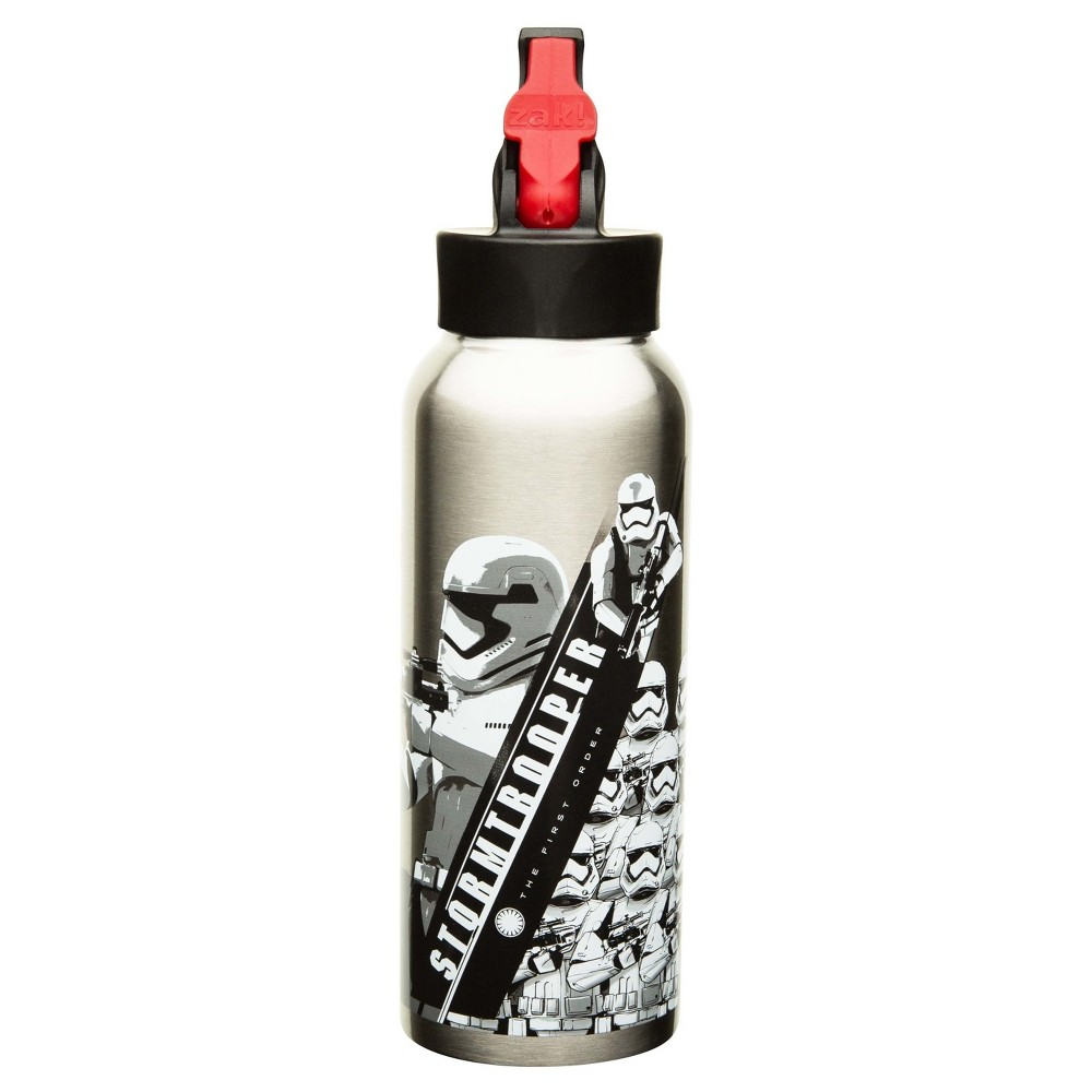 Star Wars 25oz Stainless Steel Kids' Water Bottle with Straw Lid - Gray